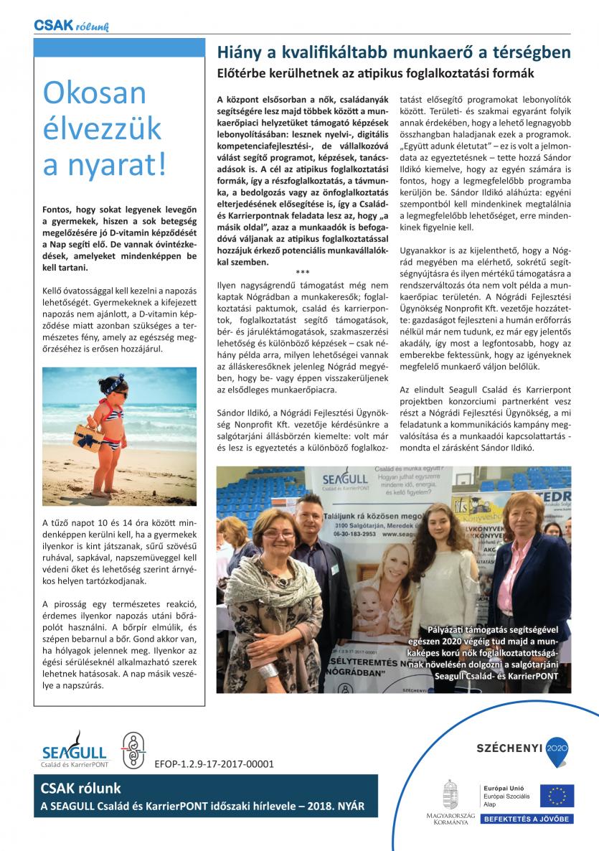 SEAGULL – Csak rólunk – újság – 2018 – nyár – 2 (1)-2